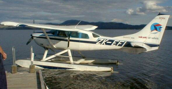 Photographs from a visit to New Zealand: Float plane at